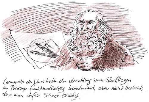 Cartoon: Erfindung (medium) by Bernd Zeller tagged leonardo,da,vinci,erfindungen