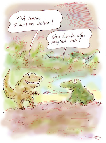 Cartoon: Evolution (medium) by Bernd Zeller tagged evolution