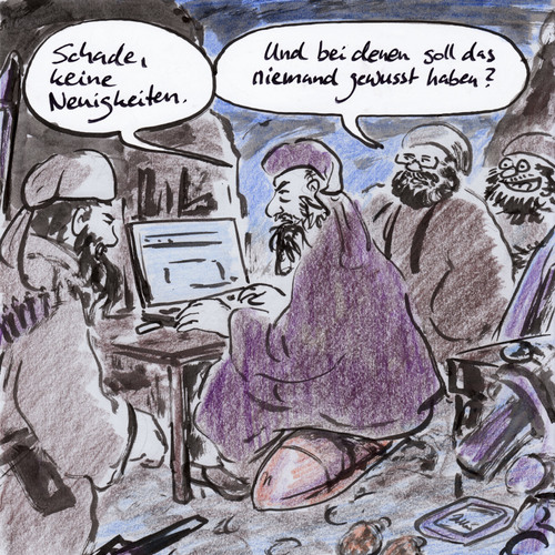 Cartoon: Geheime Dokumente (medium) by Bernd Zeller tagged geheime,dokumente