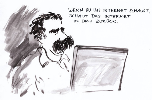 Cartoon: Google-Nietzsche (medium) by Bernd Zeller tagged google,nietzsche