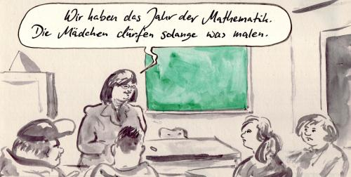 Cartoon: Jahr der Mathematik (medium) by Bernd Zeller tagged mathematik,mathematics,education,teacher,science