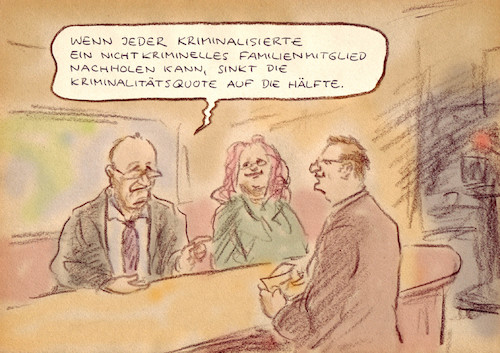 Cartoon: Kriminologische Expertise (medium) by Bernd Zeller tagged statistik