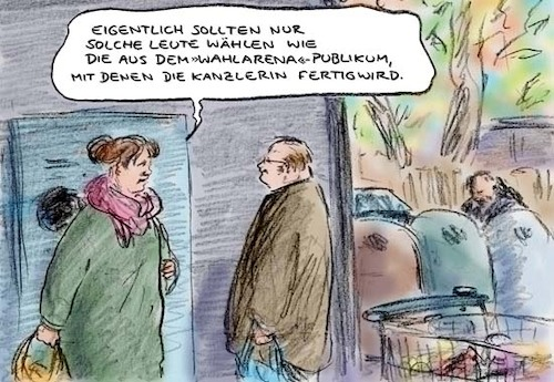 Cartoon: Nach der Wahlarena (medium) by Bernd Zeller tagged wahl