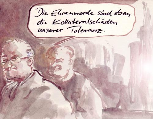 Cartoon: Preis (medium) by Bernd Zeller tagged ehrenmorde