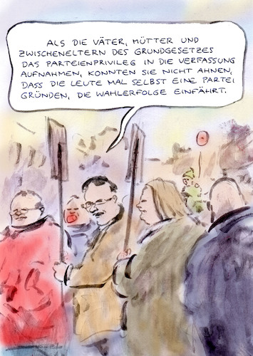 Cartoon: Problemopposition (medium) by Bernd Zeller tagged demo