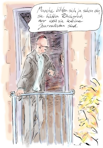 Cartoon: Selbstbild (medium) by Bernd Zeller tagged journalist