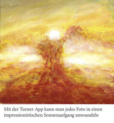 Cartoon: Sonnenuntergang (medium) by Bernd Zeller tagged app,turner