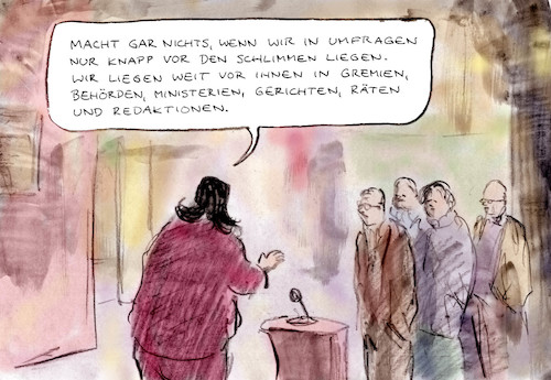 Cartoon: Unverzagt (medium) by Bernd Zeller tagged spd