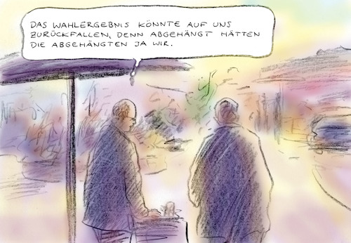 Cartoon: Wahlrisiko (medium) by Bernd Zeller tagged wahlkampf