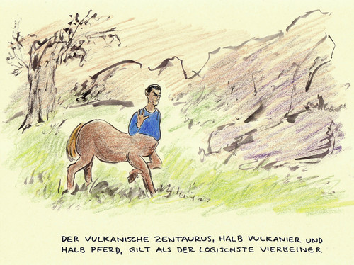 Cartoon: Zentaur (medium) by Bernd Zeller tagged zentaur