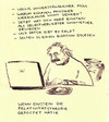 Cartoon: Kommentare (small) by Bernd Zeller tagged postings,blog,forum,einstein,community,relativitätstheorie,physiker