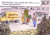 Cartoon: Manager (small) by Bernd Zeller tagged facility,managergehälter,bonus,boni