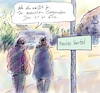 Cartoon: Manche (small) by Bernd Zeller tagged stadt