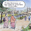 Cartoon: Renten unsicher (small) by Bernd Zeller tagged renten,generationen,nordic,walking
