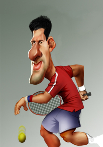 Novak Djokovic By Nenad Vitas Sports Cartoon Toonpool