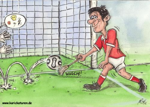 Cartoon: Fussball - Abstauber - 2006 (medium) by Portraits-Karikaturen tagged fußball,fußballkarikatur,fußballspieler,fussballkarikatur,fussball,karikatur,abstauber