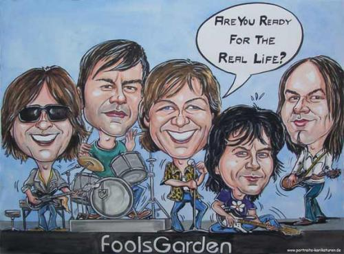 Cartoon: Musik - Foolsgarden - 2004 (medium) by Portraits-Karikaturen tagged musik,musikgruppe,foolsgarden,lemontree