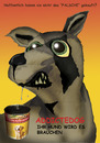 Cartoon: Dog Food Comercial (small) by Vohwinkel Illustrations tagged dog,food,comercial,addicted