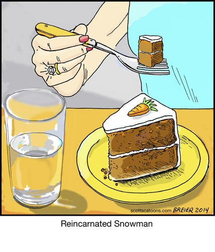 ... by noodles tagged snowman,reincarnation,water,coal,diamond,carrot,cake