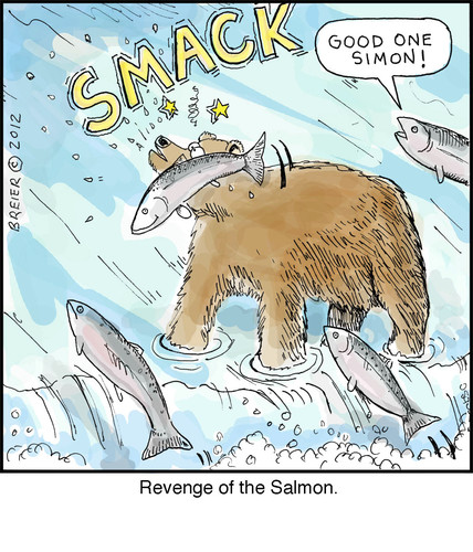 Funny salmon cartoon - photo#3