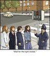 Cartoon: Abbey Road (small) by noodles tagged abbey,road,beatles,crosswalk