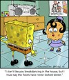 Cartoon: Breakin Spongebob (small) by noodles tagged breakdancing,spongebob,squarepants,cartoons,clean,floor