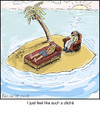 Cartoon: cliche (small) by noodles tagged noodles desert island stranded psychologist