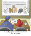 Cartoon: Dog Lineup (small) by noodles tagged police,lineup,dogs,guilty,fire,hydrant