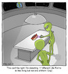 Cartoon: Hot Dog (small) by noodles tagged hot,dog,aliens,earth,scan,spaceship
