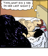 Cartoon: Old Hag Illlusion (small) by noodles tagged optical,illusion,bed,next,morning,young,old,sex