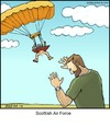 Cartoon: Scottish Air Force (small) by noodles tagged scottish,air,force,parachute,naked,kilt