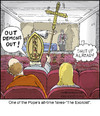 Cartoon: The Exorcist (small) by noodles tagged movies,pope,exorcist,noodles