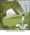 Cartoon: Time Travel (small) by noodles tagged time,travel,dinosaur,eggs,unfortunate