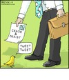 Cartoon: Tweet (small) by noodles tagged tweet,twitter,lawyer,bird