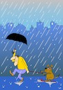 Cartoon: Hundewetter (small) by Pinella tagged wetter,hund,regen