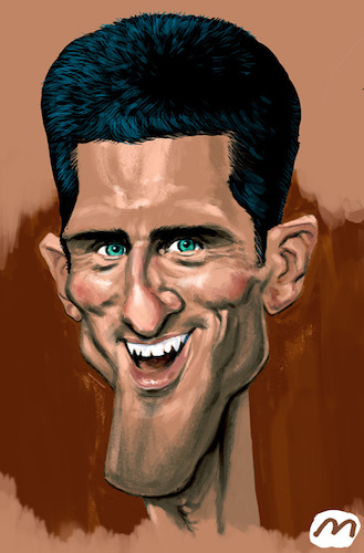 Djokovic By Zule Sports Cartoon Toonpool