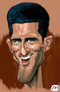 Cartoon: Djokovic (small) by zule tagged djokovic,tennis