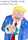 Cartoon: Twaittor (small) by Stefan von Emmerich tagged vote,him,away,donald,trump,dump,president,america,the,liar,tweets,tonight