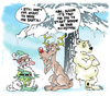 Cartoon: Elf Esteem (small) by NEM0 tagged elf,christmas,xmas,santa,clauss,rudolf,deer,white,bear,winter,snow