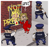 Cartoon: Not My President (small) by NEM0 tagged hillary,clinto,donald,trump,police,grafitti,elections,protests,recount