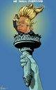 Cartoon: We Shall Overcomb (small) by NEM0 tagged trump,president,liberty,flame,light,us,usa,comb,overcome,america