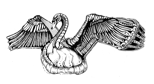 Cartoon: swan (medium) by Battlestar tagged schwan,swan,tiere,animals