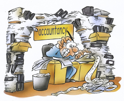 Büroarbeit clipart  accountancy By HSB-Cartoon | Business Cartoon | TOONPOOL