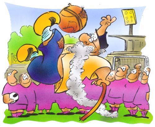 Footballgrandpa By Hsb Cartoon Sports Cartoon Toonpool