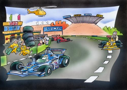 Cartoon: Formel 1 (medium) by HSB-Cartoon tagged formel1,race,sport