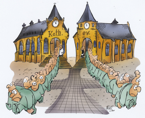 Cartoon Kirche