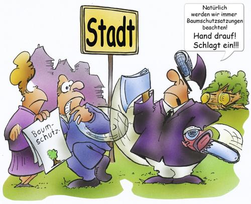 Cartoon naturschutz medium by hsb cartoon tagged baum baumschutz
