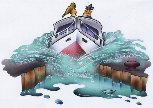 Cartoon Boats on Water Cartoon Ship on Water Cartoon