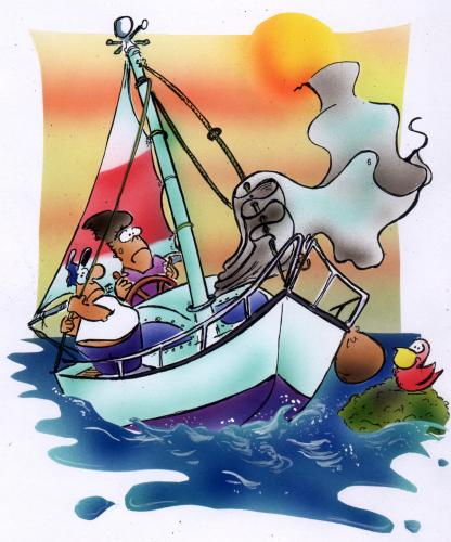 Sailing Boat Cartoon Cartoon Sailing Boat
