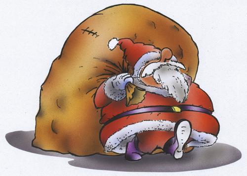 Santa claus by hsb cartoon religion toonpool